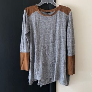 Grey Long Sleeve w/ zipper sleeve detail